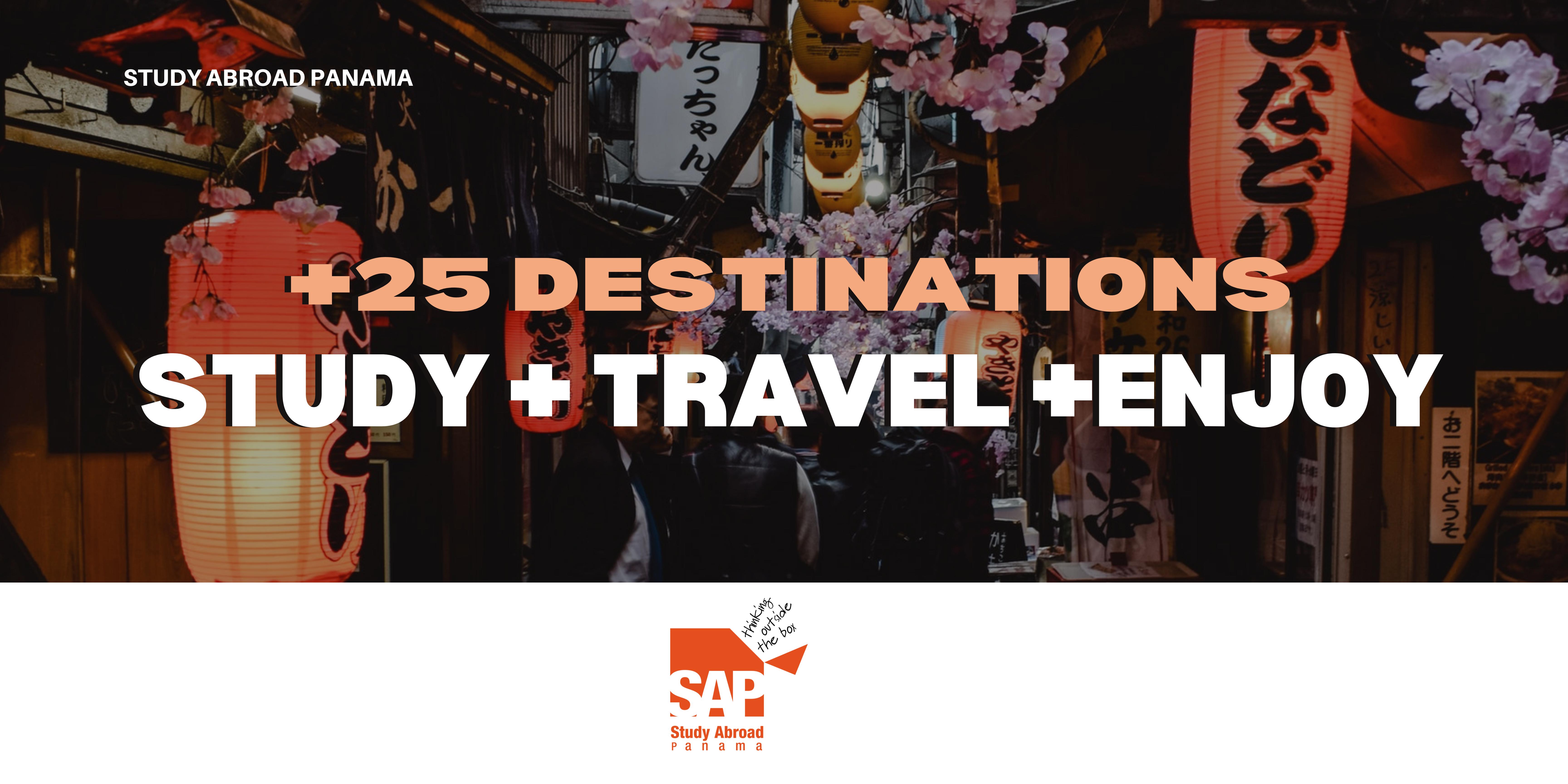 Banner +25 destinations Gap Year